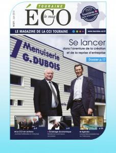 La couverture du numéro de juin de Touraine Eco