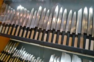 Le coutelier du marché de Nishiki