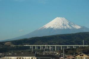 Le Fujisan depuis le Shinkansen