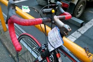 Contravention de vélo