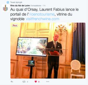 Tweet Val de Loire