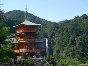 Le Seiganto ji et la cascade Nachi no Taki