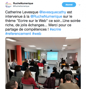 Meet up écriture Web